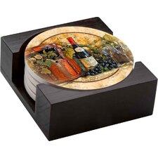5 Piece Wine Picnic Gift Set Collegiate Coaster