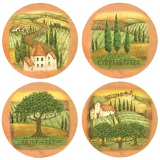 <strong>Thirstystone</strong> 4 Piece Tuscany Occasions Coaster Set