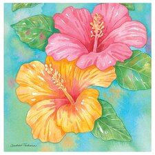 Hibiscus Garden Pair Occasions Coasters Set (Set of 4)