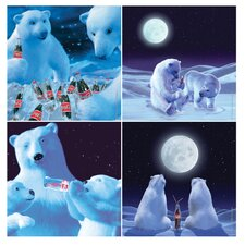 4 Piece Coke Polar Bears Occasions Coasters Set (Set of 4)