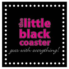 Little Black Coaster Occasions Coasters Set (Set of 4)
