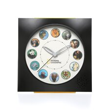 <strong>Koolatron</strong> National Geographic Animal Sounds Wall Clock