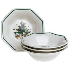 "Christmastime 6.75"" All Purpose Bowl (Set of 4)"