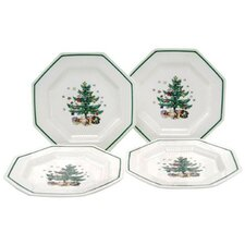 "Christmastime 8.25"" Salad Plate (Set of 4)"