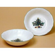 "Happy Holidays 5.5"" Fruit Bowl (Set of 4)"