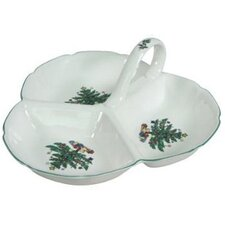 Xmas Dinnerware Three Section Serving Tray