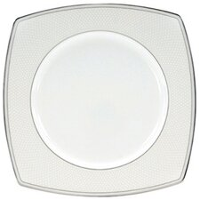 "<strong>Nikko Ceramics</strong> Platinum Beaded Pearl 9"" Square Accent Plate"