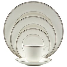 <strong>Nikko Ceramics</strong> Platinum Pearl 5 Piece Place Setting