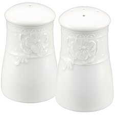 <strong>Nikko Ceramics</strong> Blanc Fleur Salt and Pepper Set