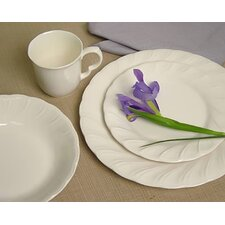 <strong>Nikko Ceramics</strong> White Satin Dinnerware Set