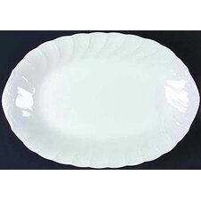 "White Satin 14"" Oval Platter"