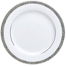 "Sentiments Platinum Filigree 8"" Salad / Dessert Plate"