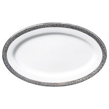 Sentiments Platinum Filigree Relish / Butter Oval Serving Tray