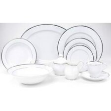 <strong>Nikko Ceramics</strong> Sentiments Band of Platinum Dinnerware Set