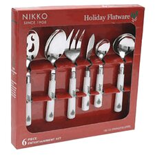 Christmas Flatware Holiday 6 Piece Entertainment Set