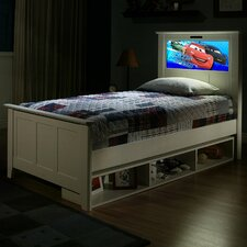 LightHeaded Beds Shaker Bed with Storage and back-lit LED Headboard Imagery