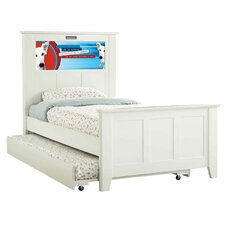 Shaker Twin Panel Bed with Trundle, Dog and Dolphins Interchangeable HeadLightz