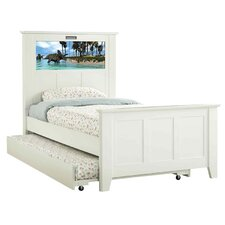 Shaker Twin Panel Bed with Trundle, Dinosaurs and Dolphins Interchangeable HeadLightz
