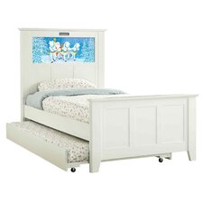 Shaker Twin Panel Bed with Trundle, Santa and Dolphins Interchangeable HeadLightz