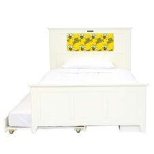 Shaker Full Panel Bed with Storage and Trundle, Bee and Dolphins Interchangeable HeadLightz