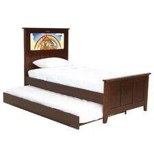 Shaker Twin Panel Bed with Trundle, Noah's Ark and Dolphins Interchangeable HeadLightz