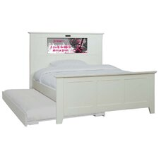 Shaker Full Panel Bed with Trundle, Rock Goddess and Dolphins Interchangeable HeadLightz