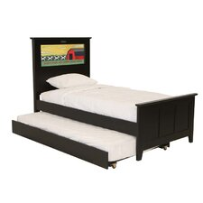 Shaker Twin Panel Bed with Trundle, Cows and Dolphins Interchangeable HeadLightz