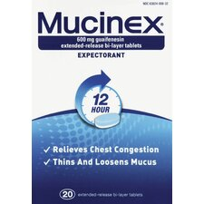 Mucinex Chest Congestion Expectorant Tablets (Pack of 20)