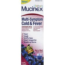 Mucinex 4 oz. Children's Multi Symptom Cold and Fever Liquid