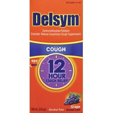 Delsym 5 oz. Adult 12 Hour Grape Cough Relief Liquid