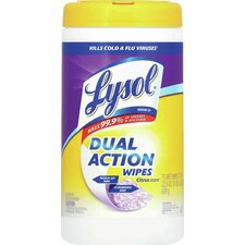 Lysol Dual Action Disinfecting Wipes (Pack of 75)
