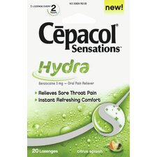 Cepacol Sensations Hydra Lozenges (Pack of 20)