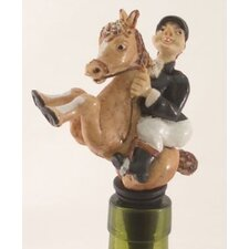 3 Piece Equestrian Bottle Stopper Set