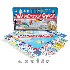 <strong>Late for the Sky</strong> WashingtonDC-Opoly Board Game