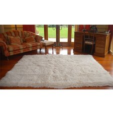 Natural White Flokati Rug