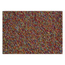 Felt Pebble Farbes Multi Contemporary Rug