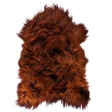 Icelandic Dyed Blacky Rusty Shag Rug