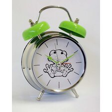 Frog Voice Twin Bell Quartz Alarm Clock