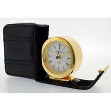 Alarm Clock in Leather Case