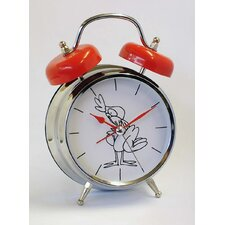 Rooster Voice Twin Bell Quartz Alarm Clock