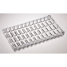 "7"" Crystal Rectangular Serving Tray"