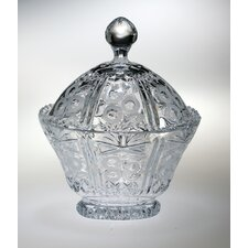 "Lace 9.5"" Crystal Cookie Jar"