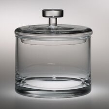 "<strong>Majestic Crystal</strong> 6"" High Quality Glass Cookie Jar"