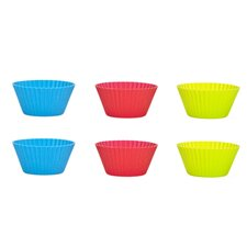 7.5cm Silicone Muffin Cake Mould (Set of 6)