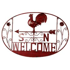 <strong>River Cottage Gardens</strong> Rooster Welcome Wall Décor