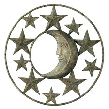 Stars and Moon Wall Plaque