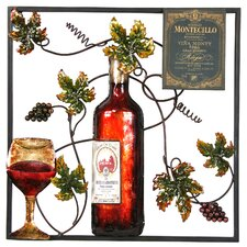 Wine and Leaf Wall Plaque