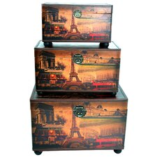 3 Piece Trunk Decor
