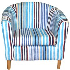 Truro Stripe Fabric Tub Chair