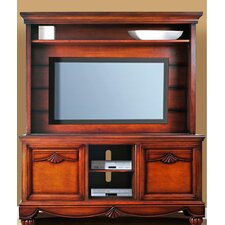 "Lumberland 62"" TV Stand with Hutch"